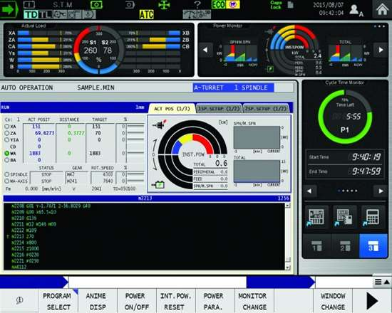 Screen capture of the ECO suite power monitor.