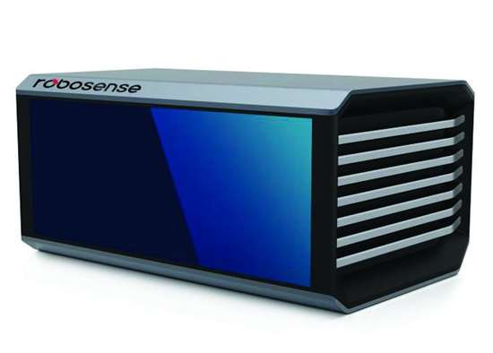 RoboSense's solid-state LiDAR, which is packed into a new unmanned ground delivery vehicle known as the G Plus.
