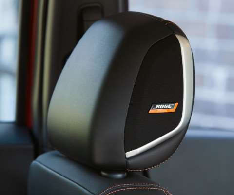 The Kicks features an interesting approach to audio: the Bose Person Plus system that includes, among its eight speakers, one that is fitted into the driver's headrest, thereby providing tailored sound for the person who is most likely to be in the vehicle the greatest amount of time. (While the car seats five, the demographic is people who are single or couples, no kids.)
