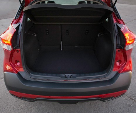 "Even though the Kicks is referred to simply as a ""compact crossover,"" the word utility was once part of the crossover nomenclature, as it began to get its own identity, separate from ""sport utility vehicle."" So utility that Kicks brings takes the form of cargo space, as in 25.3-ft3 behind the second row and 53.1-ft3 with it folded."