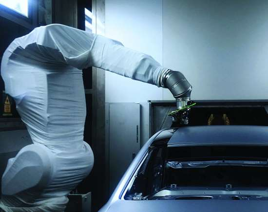 Audi process for more precise painting.