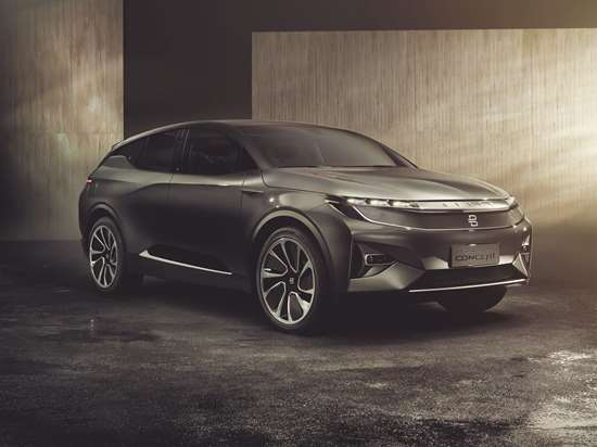 The Byton concept. Bytons will be produced in a plant in Nanjing, China, with start of production planned for the fall of 2019.