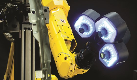 The qFLASH-A sensor is designed to enable robotic part inspection in a small footprint.