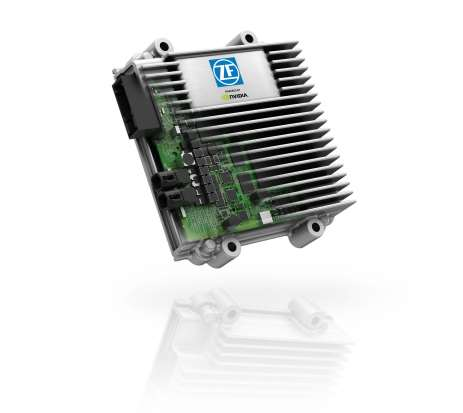 ZF ProAI chip uses scalable NVIDIAs Drive PX 2 AI platform to process inputs from LiDAR, radar, ultrasonic sensors, and multiple cameras. Capable of over-the-air updates, it can communicate with other vehicles and the surrounding infrastructure. In fully autonomous vehicles, it will be part of a controller about eight inches square.