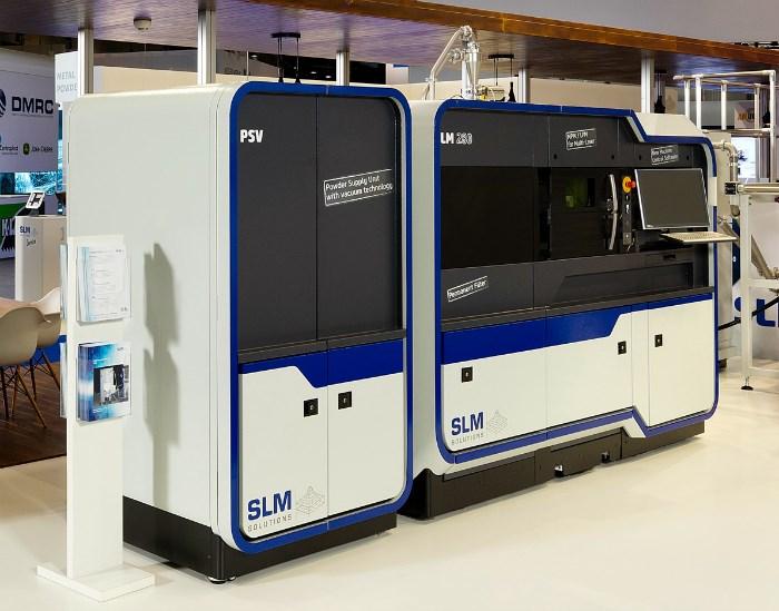 SLM 280 metal additive manufacturing system.