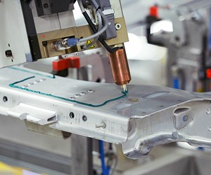 SikaPower epoxy-based adhesive used in unibody assembly application. (Credit: Sika Automotive)