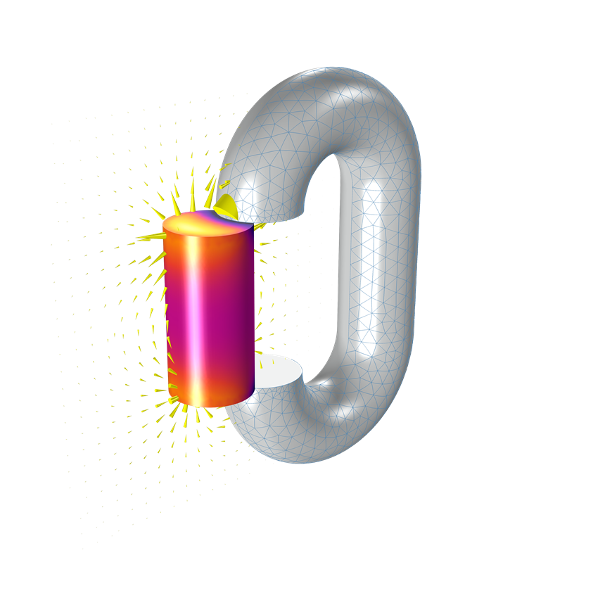 The boundary elements methods interface in COMSOL Multiphysics helps solves for scalar magnetic potential and can be used as a standalone interface to model permanent magnets with linear, constant, and homogeneous properties. New material models for modeling soft permanent magnets include both AlNiCo (soft magnet) and NdBFe (hard magnet) materials.