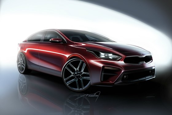 The renderings of the 2019 Forte and the real deal. Brings the Stinger to mind.
