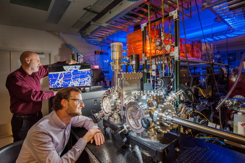 Scientists at the Sandia National Laboratories published new research showing the creation of a new alloy that's 100 times more durable than high-strength steel. (Photo: Randy Montoya)