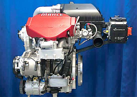 Downsizing will continue and be supplemented by hybridization. Electrically driven turbos and superchargers will bring instant boost, while friction reduction strategies and electrically driven engine accessories grow in scope and number. Mahle's 1.2-liter concept motor, shown here, produces a remarkable 259 hp and 334 lb.-ft. of torque.
