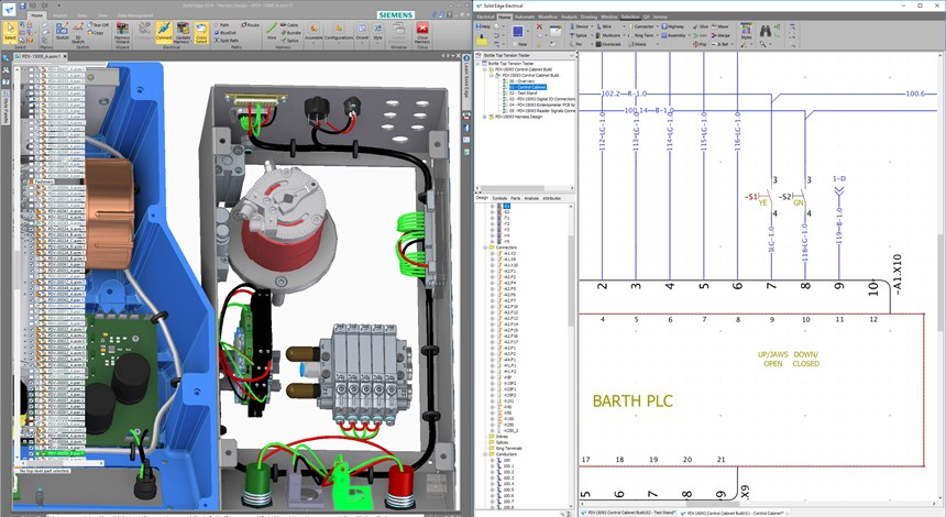 Solid Edge Wiring Design has built-in intelligent libraries for electrical components, symbols, and simulation models. Its integration to Solid Edge provides easy MCAD/ECAD design visualization, cross probing, and back annotation.
