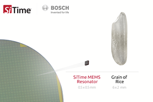 Bosch and SiTime announced a new strategic partnership to produce things like MEMs devices. Yes, these devices are small. Really small.