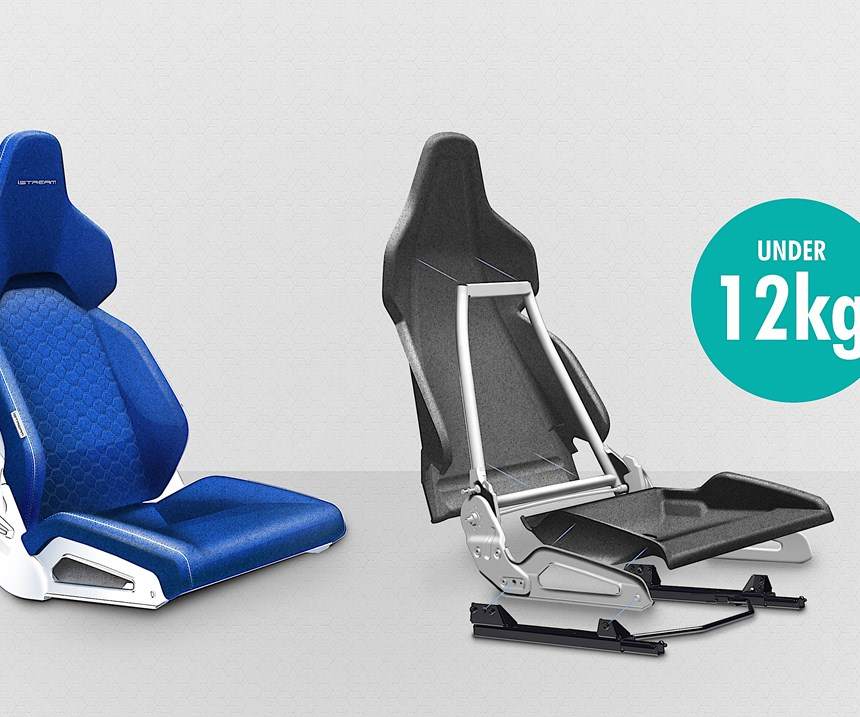 Gordon Murray Design's iStream lightweight seat design claims a 30% weight advantage over conventional designs by pairing a tubular frame with fiberglass or recycled carbon composite panels. Replacing the composites with Airloys should further reduce weight, while enhancing thermal and sound insulation properties, and overall strength.