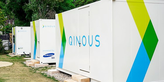 Berlin-based energy storage and systems start-up Qinous, makes big batteries like these. Rolls-Royce just took a stake in the company as it eyes an electric vehicle future.