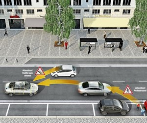 V2X technology enhances driver and pedestrian safety by providing a greater view of what's happening in the vicinity of a vehicle, combining information provided not only by sensors and systems integrated into the infrastructure, but also from other vehicles.