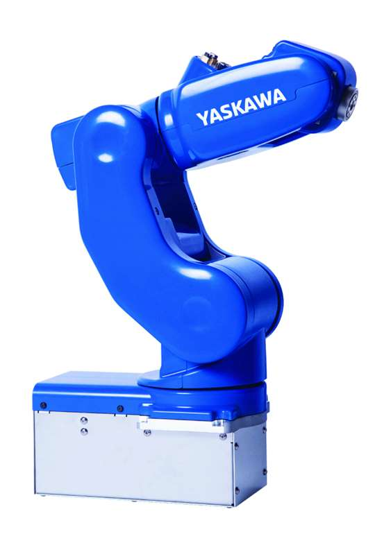 The MotoMini: a fully capable, six-axis industrial robot that is, well, cute.