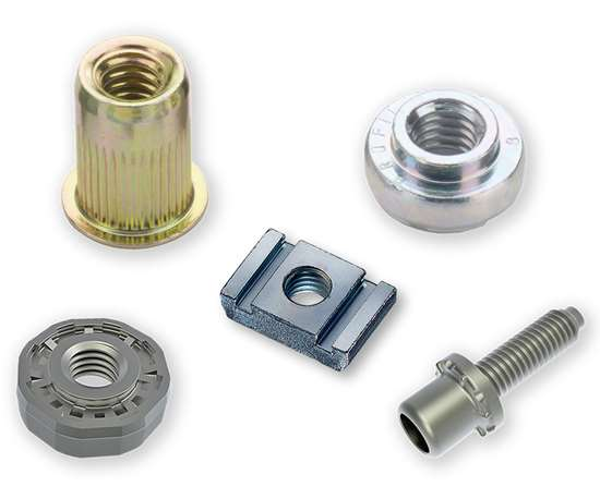 Mechanically attached fasteners (MAF) are commonly used in the automotive industry to permanently and securely attach threaded, reusable fasteners to automotive parts or panels.