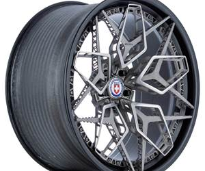 The HRE3D+ wheel was 3D printed in five separate sections on two Arcam EBM machines, then combined with a center section and bolted to a carbon fiber.
