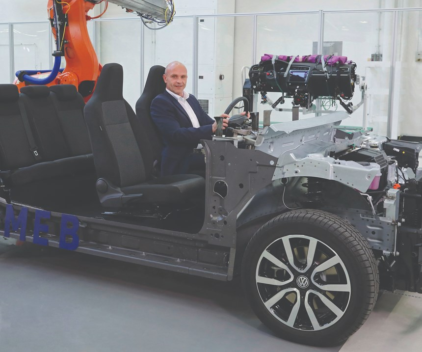 """""""We want to take e-mobility out of its niche and to make the electric car affordable for millions of people. Large volumes and efficient production will lay the foundation. This is why we are bundling electric car production at Zwickau and making the plant the nucleus of our major electric offensive.""""-- Thomas Ulbrich, Member of the Volkswagen Brand Board of Management responsible for E-Mobility"""