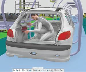 The Dassault system allows design of assembly operations as well as the things being assembled to help facilitate operations, providing the means by which there can be product and process validation before there is physical product or tooling.