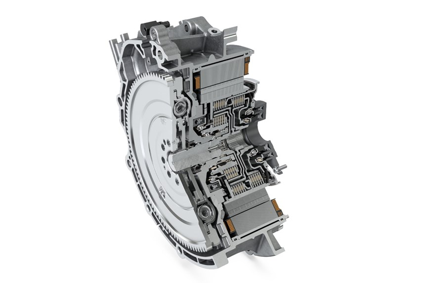 The Schaeffler P2 hybrid module is being deployed by Ford for hybrid SUVs.