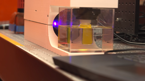 The Computed Axial Lithography (CAL) process being developed at Berkeley uses computer-generated images showing multiple angles of an object, which are projected onto a rotating container of light-sensitive resin to create a 3D print of the object.