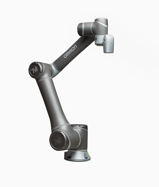 The Omron collaborative robot with built-in vision system.