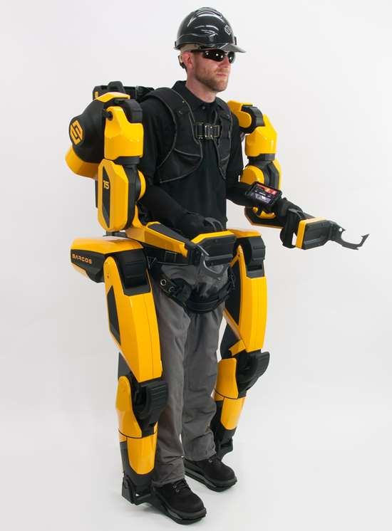 The Guardian XO Max electric, full-body exoskeleton makes a hundred-pound object seem as light as five pounds. It can go run for eight hours on a single charge.