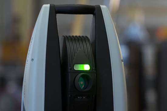 The ATS600 laser tracker tracks and scans without targets at a distance of up to 131 feet.