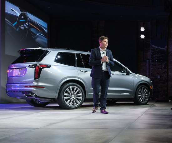 Andrew Smith, head of Cadillac design, at the reveal of the 2020 XT6 in Detroit (Photo: Steve Fecht for Cadillac)