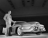 Harley Earl and the 1951 Le Sabre concept. (Photo: GM)