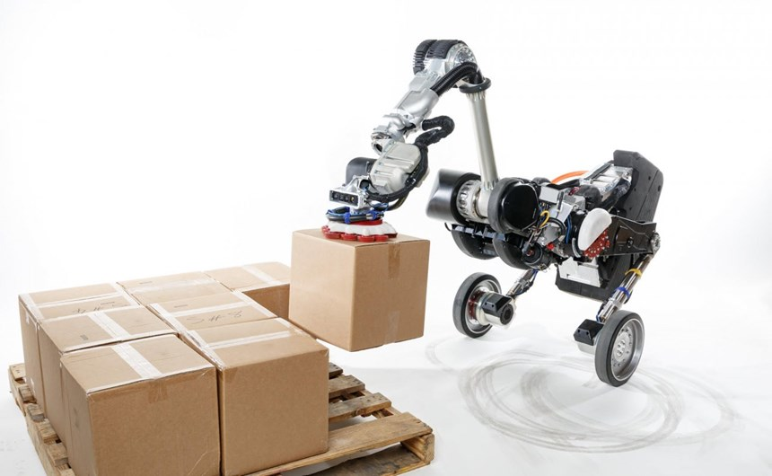 The Boston Dynamics Handle industrial robot for handling operations.