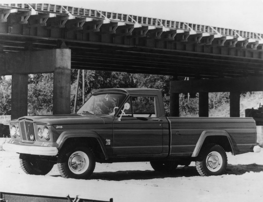 Jeep has a history in pickups, going back to 1947. This is one from 1963—a Gladiator.