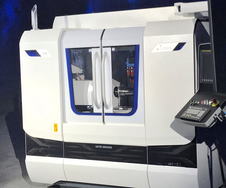 The Studer S33 for grinding medium-sized workpieces in individual and batch production, as revealed at Hagerbach Test Gallery in March 2019.