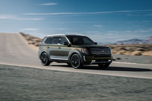 The Kia Telluride is 196.9 inches long, 78.3 inches wide, 68.9 inches high (sans roof rails), and has a 114.2-inch wheelbase. As its ground clearance is 8 inches, AWD availability notwithstanding, while it can go off(ish) the road, it is probably best to stick to the pave.