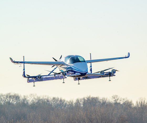 The first test flight on a Boeing autonomous passenger air vehicle, January 23, 2019. (Image: Boeing)