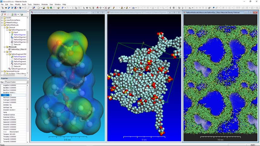 Dassault Systèmes BIOVIA Materials Studio provides visualization and statistical tools for researchers in materials science and chemistry to develop new materials. The tools predict the relationships of a material's atomic and molecular structure with its properties and behavior.