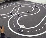 """A """"test track"""" at the University of Cambridge sought to emulate our near future - when some cars will be communicating with each other, but most will remain off the grid."""