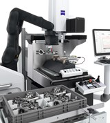 Shuttle tables, robots, and dedicated fixtures all can play roles in automating inspection equipment.  (Photo: ZEISS Industrial Quality Solutions)