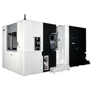 Turn-Cut is a programming option on Okuma horizontal machining centers that allows the machine to create bores and diameters without special attachments or fixtures.