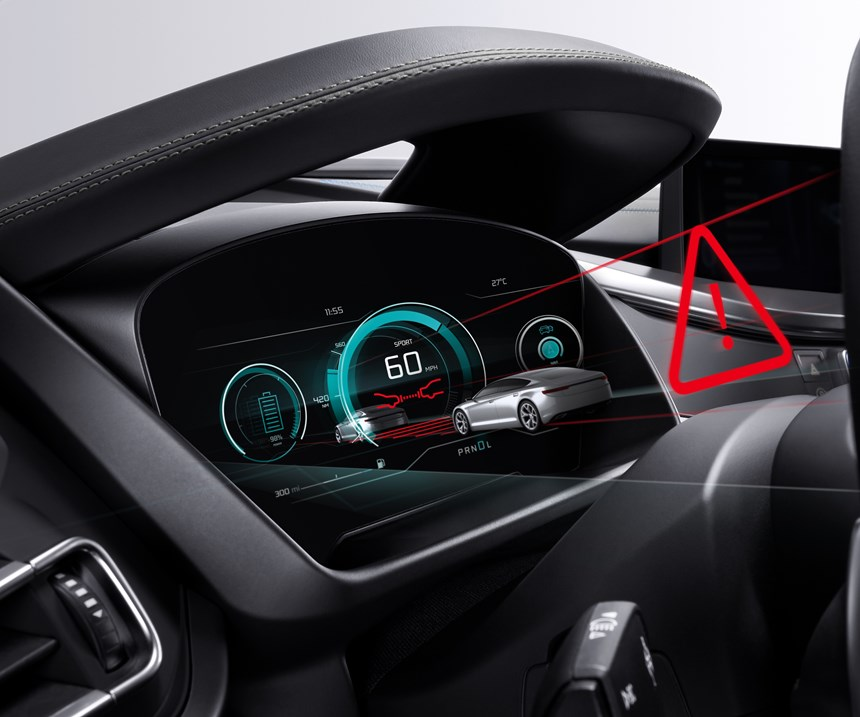 Bosch is testing out three-dimensional dash displays that would put data animations front and center.