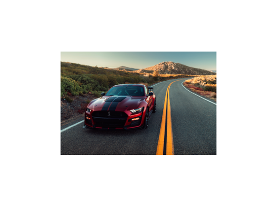 The 2020 Mustang Shelby GT500: designed to perform.