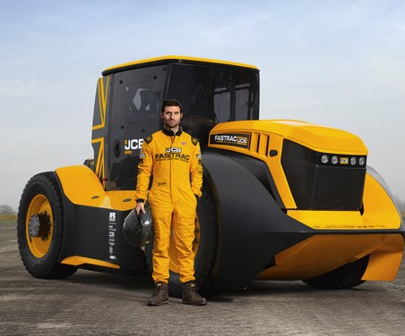 JCB Fastract Two and Guy Martin