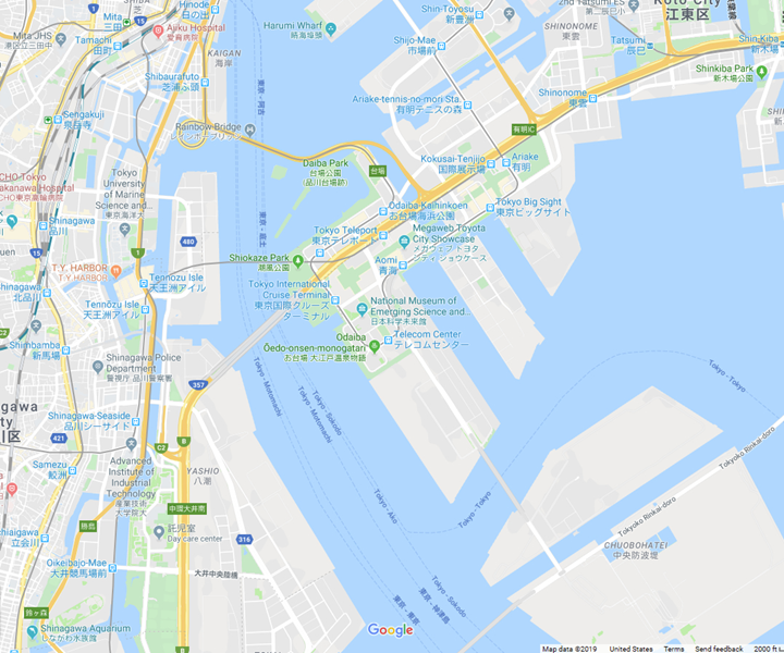 Google Map Odaiba