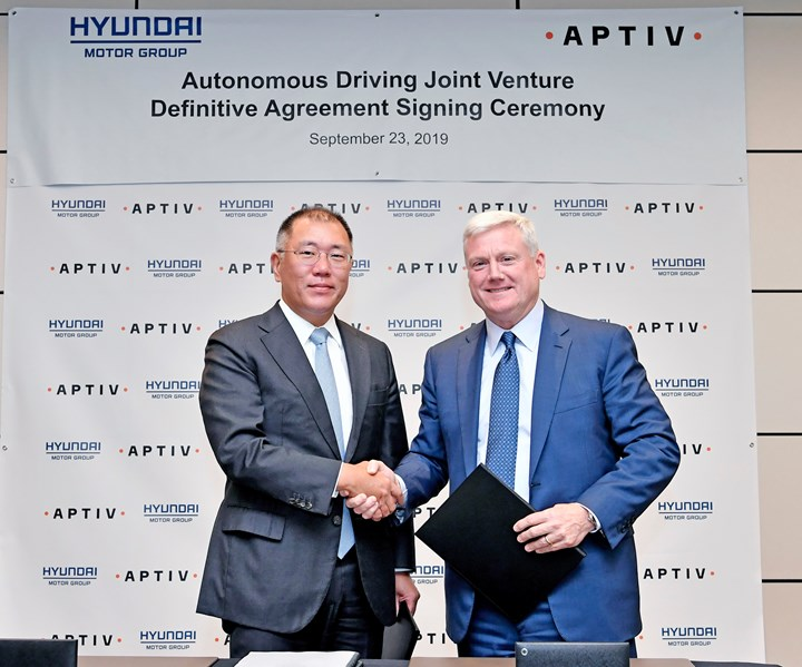 Chung of Hyundai and Clark of Aptiv
