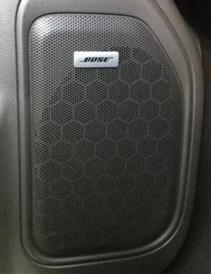 3D printed bose speaker grill for Chevy Silverado.