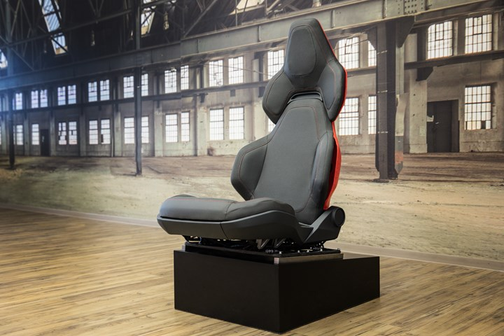topology optimized car seat