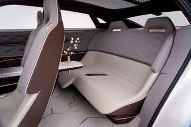 Infiniti rear seat