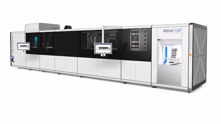 Modular Additive Industries system for production
