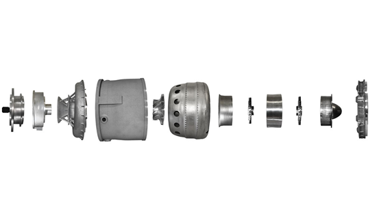 Segmented view of aerospike engine